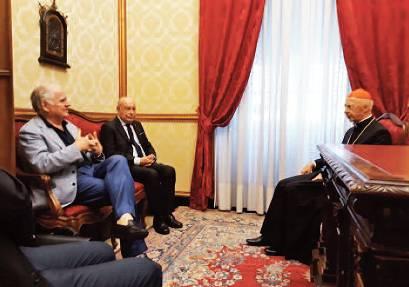 TRAGUARDI SOCIALI / n.90 Luglio / Agosto 2018 :: L'incontro del Presidente MCL con il Cardinale Angelo Bagnasco