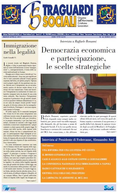 TRAGUARDI SOCIALI / n.46 Marzo / Aprile 2011 :: Taccuino